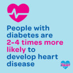 People with diabetes are 2-4 times more likely to develop heart disease